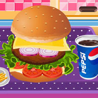 Yummy Hamburger Cooking Icon